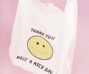 bag, pink, and paper bag image