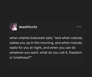 alone, charles bukowski, and perspective image