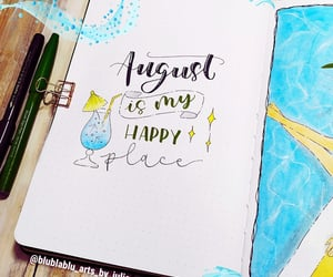 August, hand lettering, and lettering image