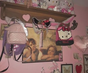 angels, bedroom, and hello kitty image