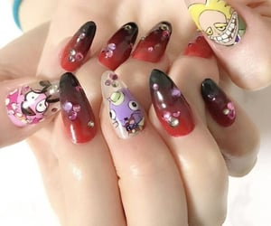 asthetic nail paints and asthetic nail designs image