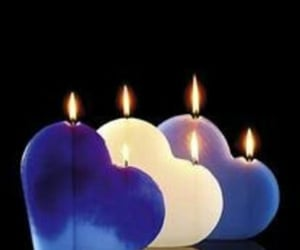 be mine, candles, and hearts image