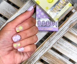 beauty, smiley face, and trendy nails image