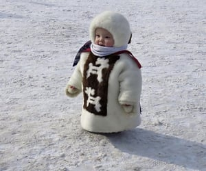 baby, fashion, and snow image