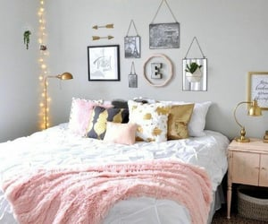 bedroom, decoration, and light image