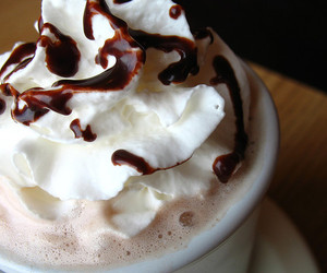 cappuccino, chocolate, and whipped cream image