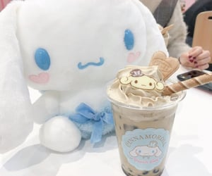 baby blue, boba, and boba tea image
