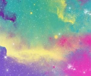 cielo, estrellas, and rosa image