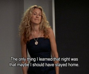 blonde, Carrie Bradshaw, and text image