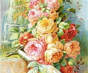 cartas, viejo, and flores image