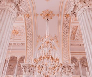 architecture, chandelier, and chateau image