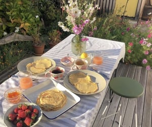 breakfast, cottage, and countryside image