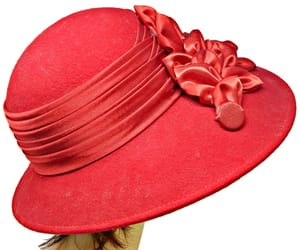 etsy, ladies red hat, and wide brim red hat image