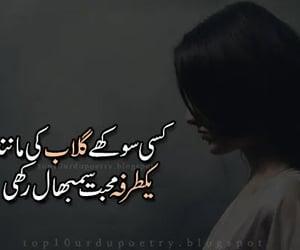 sad poetry and poetry in urdu 2 lines image