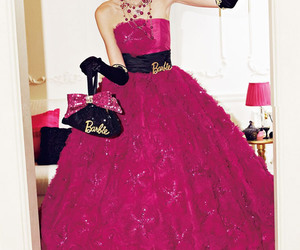 dress, barbie, and pink image