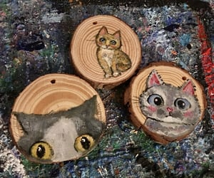 cat, funny cat, and original art image