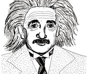 caricatura, caricature, and einstein image