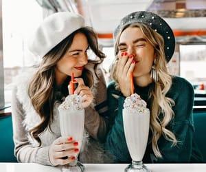 friends, milkshake, and friendship image