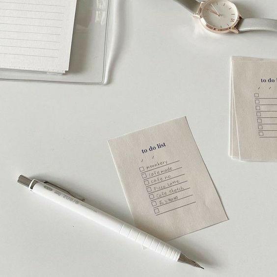 Imagem de aesthetic, to do list, and cutter