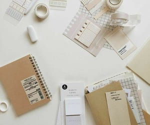 cutter, brush pen, and eraser image