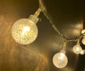 bulb, fairy lights, and lights image