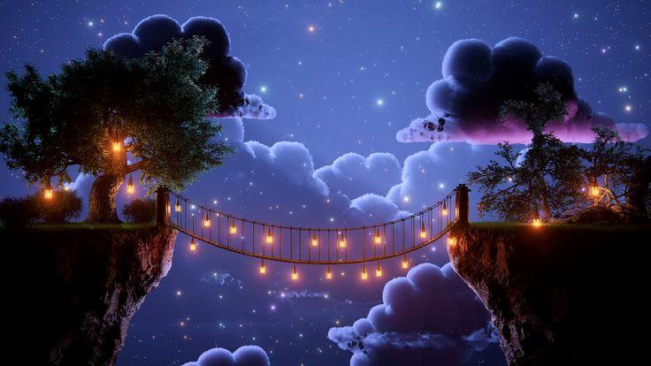 bridge, clouds, and dark image
