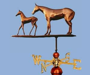 mare and foal weathervane image