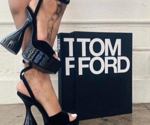 black, luxury heels, and black heels image