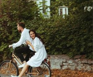 bike, photography, and couple image