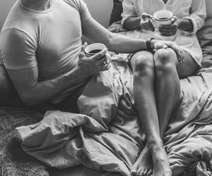 bed, mornings, and coffee image