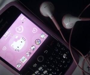 hello kitty, ipod, and phone image