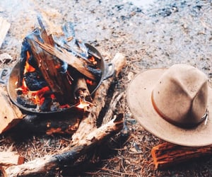 aesthetic, campfire, and camping image