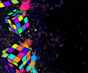 80s, cubes, and wallpaper image