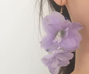 flowers, jewelry, and purple image