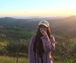 aesthetic, girls, and paisagem image