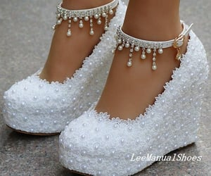 wedding shoes and white shoes image
