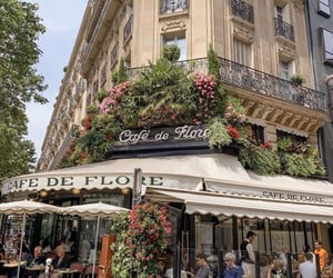 aesthetic, paris, and cafe image