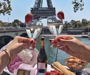 drinks, paris, and travel image