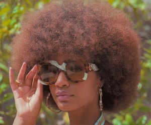 afros and women image