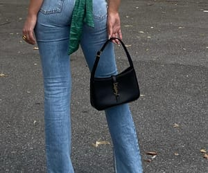 blogger, fashion, and green top image