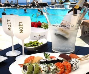 luxury, champagne, and pool image