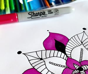 drawing, Sharpie, and sharpies image