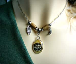 art, jewelry, and owl pendant image