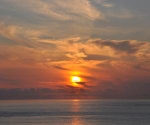 bretagne, sky, and sunset image