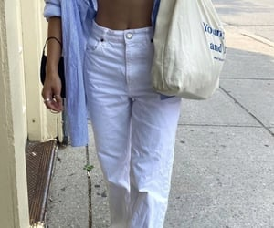 bikini, blue, and outfit image
