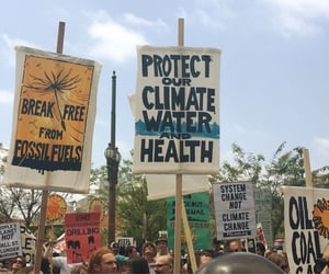 protest, climate change, and climate image