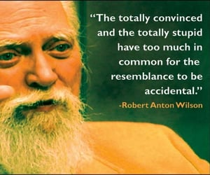 robert anton wilson, the totally convinced, and the totally stupid image
