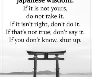 shut up, if you don't know, and japanese wisdom image