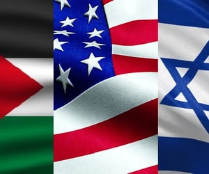 israel, palestine, and russia image