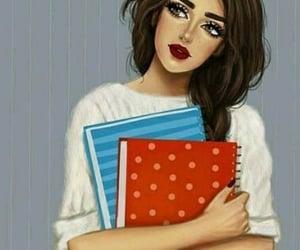 art, cute, and books image